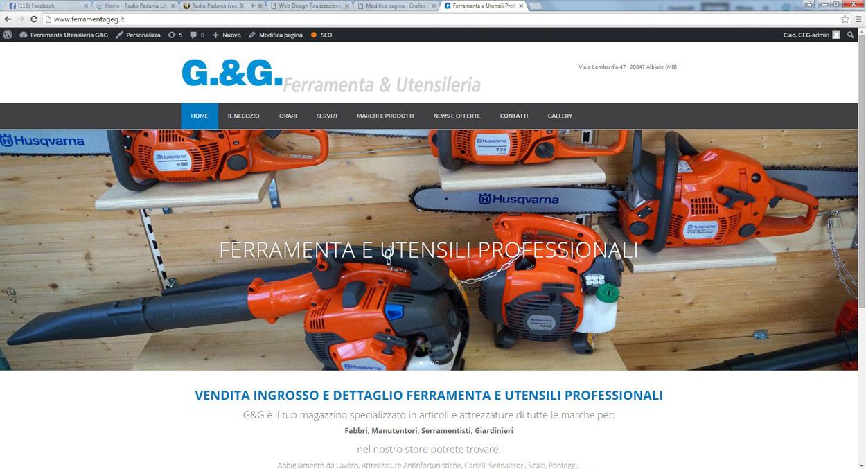 realizzazione sito internet g&g ferramenta